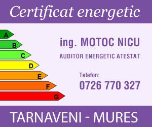 Certificat energetic pentru cladiri, apartamente. Tarnaveni - Mures. Auditor energetic atestat. Ing. Motoc Nicu.
