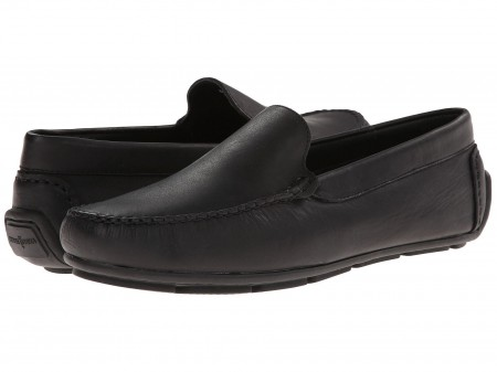 Minnetonka Minnetonka Venice Driving Moc Black Smooth Leather
