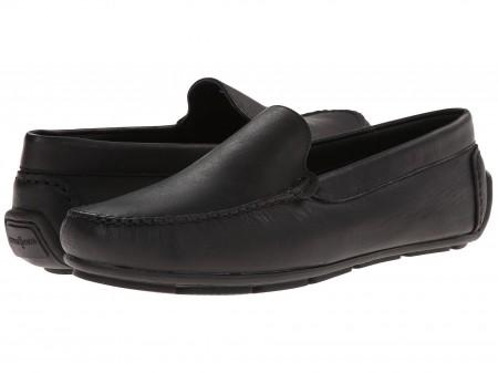 Minnetonka Minnetonka Venice Driving Moc Black Smooth Leather