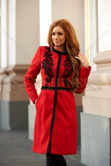 LaDonna Palton LaDonna Embroidered Fall Red